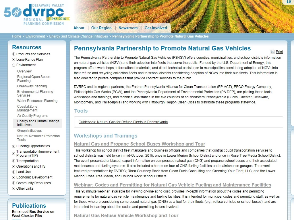 Pennsylvania Partnership To Promote Natural Gas Vehicles