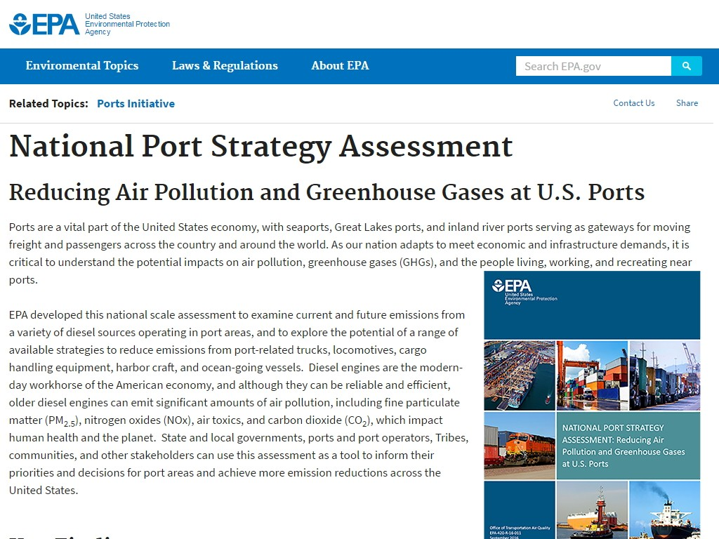 National Port Strategy Assessment – Alternative Fuel Toolkit