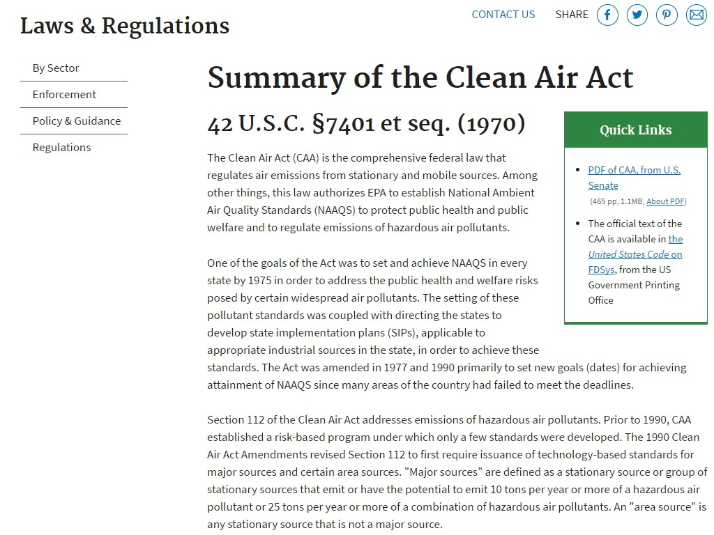 summary of clean air act of the philippines Updating clean air act and solid waste management act  the federation of  philippine industries and the pollution control association of the.