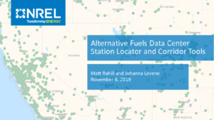 thumbnail of SLC NREL Corridor Planning Tools_NREL